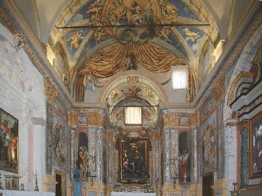 Andrea Polinori nella chiesa di San Giuseppe