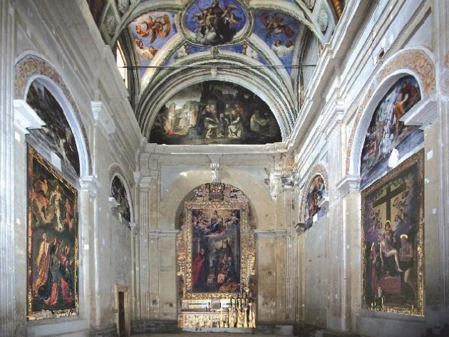Andrea Polinori e Bartolomeo Barbiani nella chiesa di Sant'Antonio